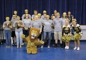 Monarchs Mobile Pep Rally visits schools.